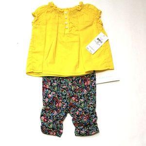 Ralph Lauren Baby Girl Top Leggings Set Size 3 M